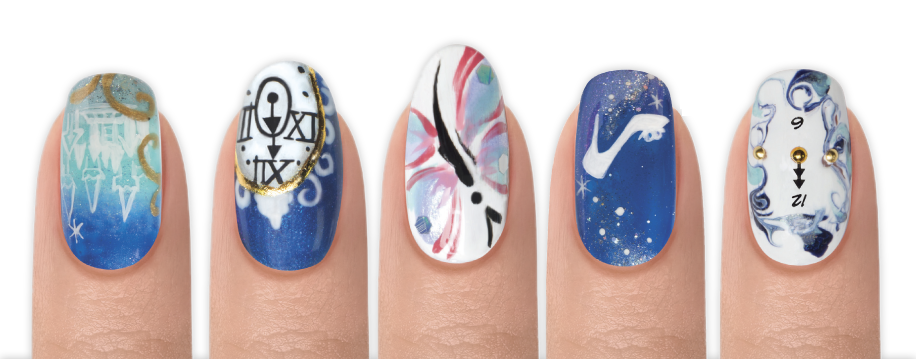 Cinderella Inspired Nail Art - Gelish - Inner Princess Nail Art Contest